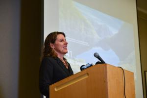 Chair Deborah Kafoury speaks at a press event where Portland Street Response survey results were unveiled Thursday, Sept. 19, 2019.