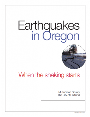 Image of the front cover of the Earthquake Primer in English