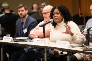 Department of Community Justice Director Erika Preuitt speaking at January 2020 Conference.