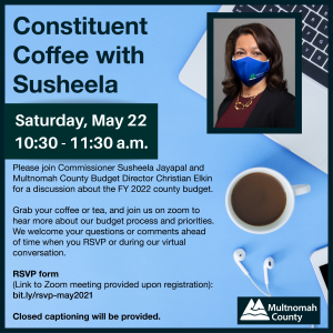 constituent coffee on fy22 budget flyer