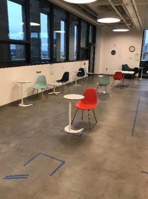 Photo of McCoy Building break room