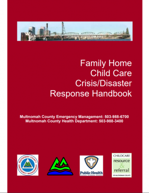 Cover image of Family Home Child Care Disaster Response Handbook