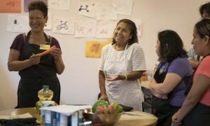 Food Matter volunteers Allison Lew and Maria Solano