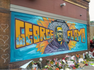 A mural honoring George Floyd in south Minneapolis, and remembering others killed by police.
