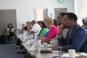 County leaders from across the nation listen to census discussion.