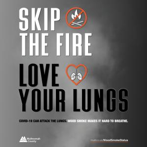 Skip the Fire Love Your Lungs message for Instagram (English)
