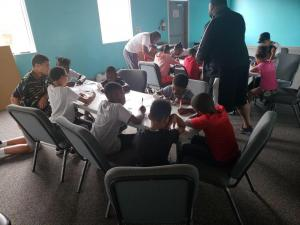 Kids learning about CPTED principles