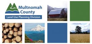 Photograph of farm and forest landscapes in Multnomah County