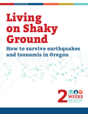 Image of the cover of Living on Shaky Ground booklet