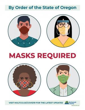 By order of the State of Oregon, masks required