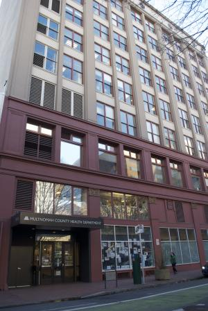 Multnomah County's Gladys McCoy Building at 426 SW Stark Street in downtown Portland
