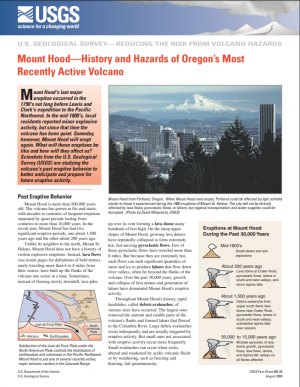 Image of Mount Hood--History and Hazards of Oregon's Most Recently Active Volcano leaflet