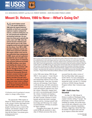Image of Mount St. Helens, 1980 to Now--What's Going on? leaflet
