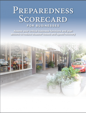 Cover image of Preparedness Scorecard for Businesses