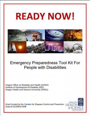 Cover image of Ready Now Emergency Preparedness Tool Kit for People with Disabilities