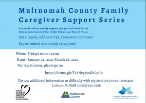 Multco Family Caregiver Support Series