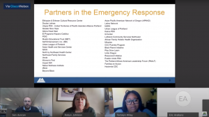 April 13 Board Briefing screenshot of County partners in the emergency response