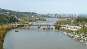The new Sellwood Bridge takes shape. Photo courtesy of ODOT.