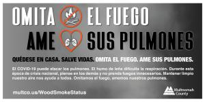Spanish skip the fire love your lungs graphic and text