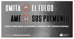 Skip the Fire Love Your Lungs message for Facebook (Spanish)