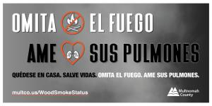 Skip the Fire Love Your Lungs message for Twitter (Spanish)