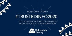 We've been promoting the #TrustedInfo2020 campaign sponsored through the National Association of Secretaries of State to encourage voters to get their information from trusted sources and avoid misinformation and disinformation.