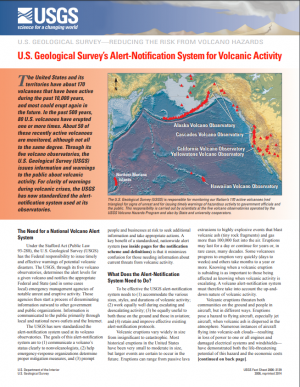 Image of U.S. Geological Survey's Alert-Notification System for Volcanic Activity leaflet