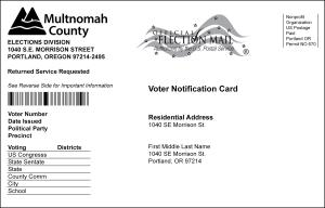 Voter Notification Card