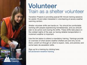 How to volunteer at a warming center this winter.