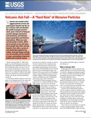 Image of Volcanic Ash Fall leaflet