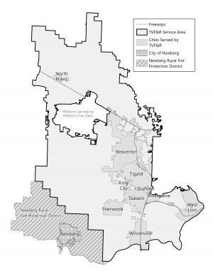 Tualatin Valley Fire and Rescue District Annexation map