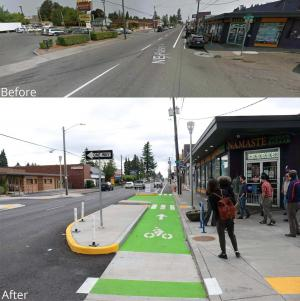 REACH, Environmental Health propose greater investment in changes like those made here, at 102nd and Halsey.