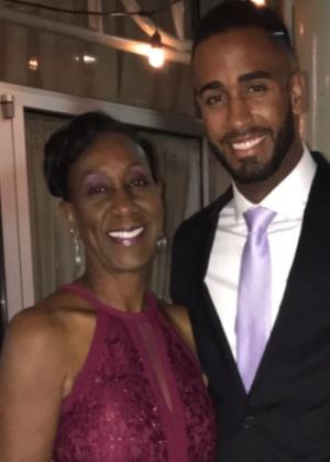 Patricia Charles-Heathers with her son Jason, at a Gala for the nonprofit Chest of Hope.