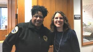 Chair Kafoury and Portland Fire Chief Sara Boone