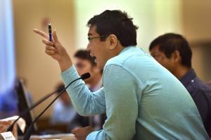 Duncan Hwang of APANO, told county commissioners that climate change has the most detrimental effects on the most vulnerable.