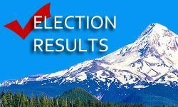 Image of Elections Results with Mt Hood in the background