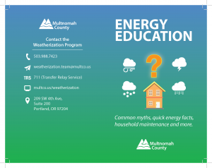 Cover of energy brochure
