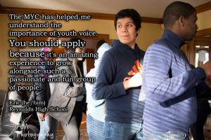 Eric shares why he applied to the MYC