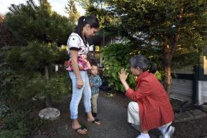 Nurse Sara Shim still visits Bautista and her son Adolfo regularly at their East Portland home.