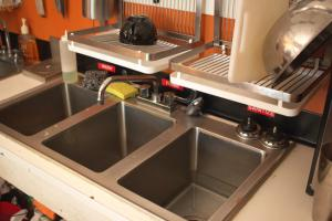 a three-compartment sink