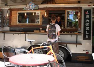 customer at a food cart