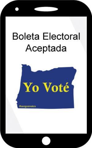 I voted sticker on phone