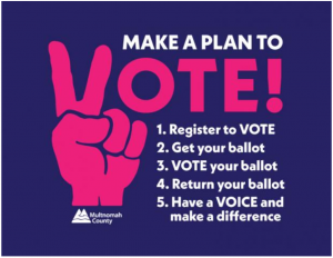 Image that says, Make a plan to vote.