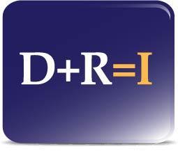 D plus R equals I