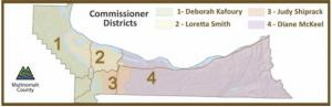 Map of Commissioner Districts