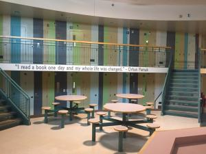common area inside a youth detention center