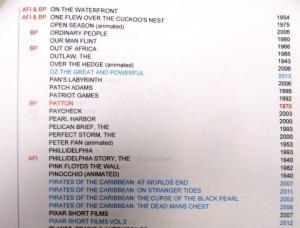 Image of DVD list