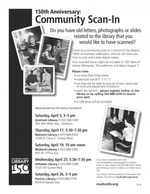 Library Community Scan in Flyer
