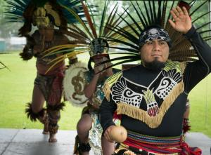 Dancers from Mexica Tiahui opened the celebration with an offering