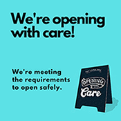 Shareable image says: Opening with care!